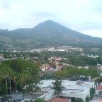 Overlooking the volcano