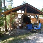 Outdoor BBQ and Main Lodge