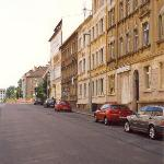 Adler Hotel, Leipzig (just past bear left sign)