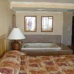 King Bed and 2 person spa