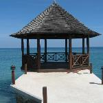 This is the Gazebo at the beach club, Tryall