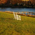 Rocking Chairs on the lawn on the grounds of Woodlawn Farm