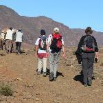 walking in atlas of morocco