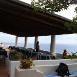 The restaurant terrace at the hotel
