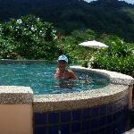 My girlfriend in pool