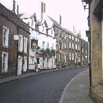 Quaint street in Alnwick