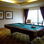 The billiard room at the Ritz Calrton Club Lounge