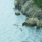 Sea kayaking in the Bay of Olympos