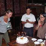 Regalaron un pastel para celebrar mi cumpleaños