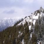 A view from the top of the Banff Gondola