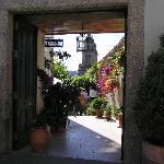 Entrance to the hotel's garden
