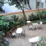 vista del giardino dalla camera
