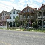 the whole row of Victorian Homes