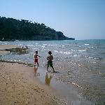 Our grandsons enjoying the water