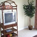 TV Center in Living Room Area (with a DVD Player!)