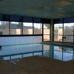 The indoor/outdoor pool