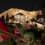 Acropolis at night from the balcony