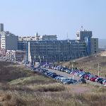 The hotel from the dunes