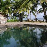 The swinming pool and beach