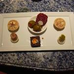 Complimentary canapes
