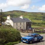 a typical scene of rallying on the isle of man