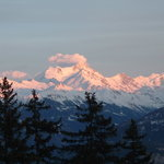 View of Swiss Alps from Chalet