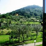 view of Fiesole from bedroom window
