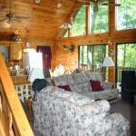 Living Room of the Cabin. Loved the Windows!