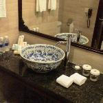 Large bowl as wash basin
