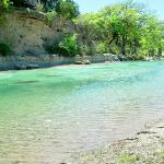 Frio River in front of Cabins