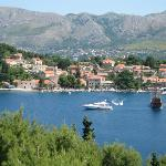 The Old Port in Cavtat viewed from the Pool Bar