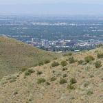 Looking back towards Boise
