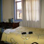 The bedroom - notice the sagging matress.
