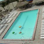 View of pool from Room 610