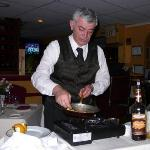 Bananas Foster is cooked tableside