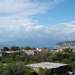 View of Vesuvius from roof terrace