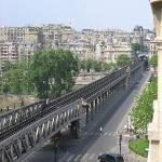 A view of the Seine from the balcony