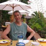 Mark at breakfast