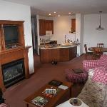 Living room of 1-bedroom unit