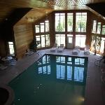 Indoor Pool and sauna area
