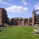 Remains of the Benedictine Priory on Lindisfarne.