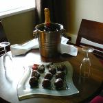 The chocolate dipped strawberries and Moet & Chandon that awaited us on arrival
