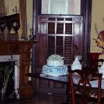 Dining area, and our cake