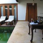 first view of pool suite from entrance
