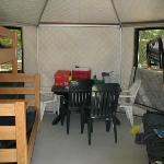 Inside of the yurt (view #1)