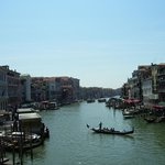 View from Rialto Bridge Venice