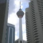 KL Tower from hotel pool