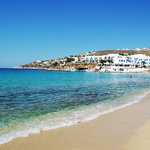Platis Yialos beach where Mykonos Palace is located