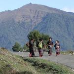 Children walking to school...