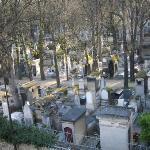 vista del cementerio desde la ventana